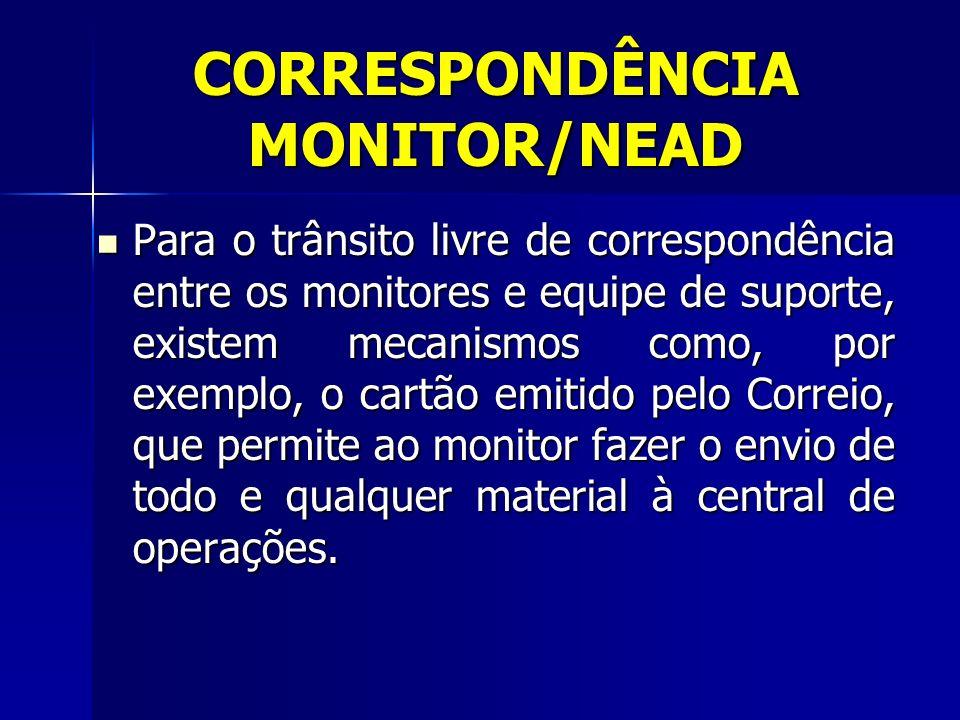 CORRESPONDÊNCIA MONITOR/NEAD