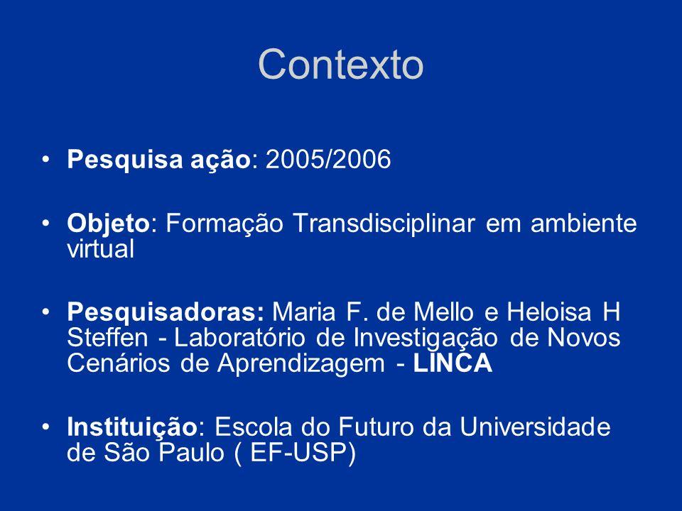 Contexto Pesquisa ação: 2005/2006