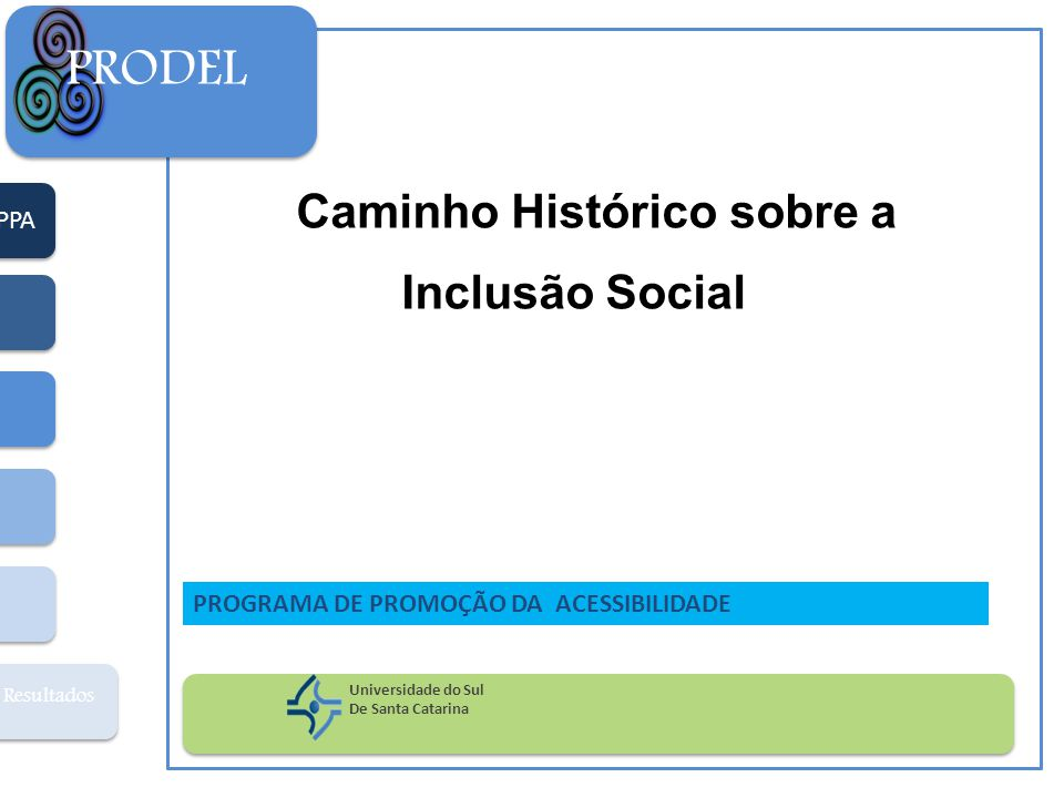 PRODEL Caminho Histórico sobre a Inclusão Social PPA
