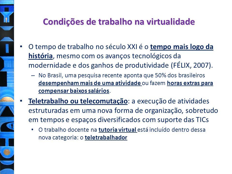 Condições de trabalho na virtualidade