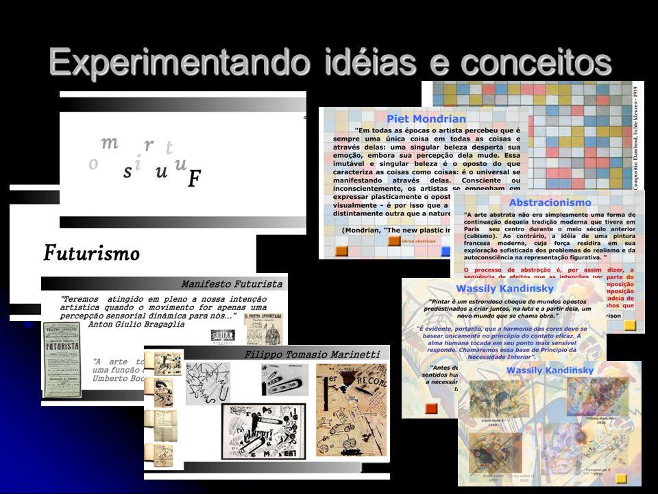 Experimentando idéias e conceitos