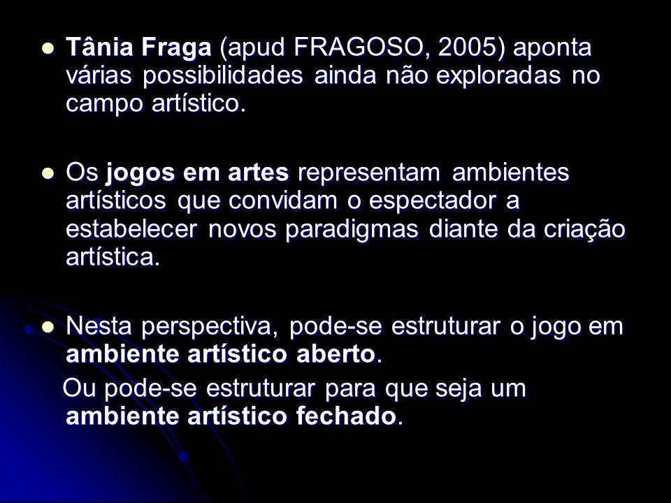 Tânia Fraga (apud FRAGOSO, 2005) aponta várias possibilidades ainda não exploradas no campo artístico.