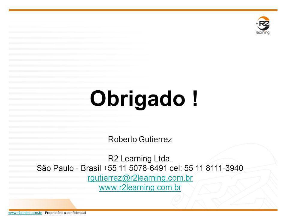 Obrigado ! Roberto Gutierrez