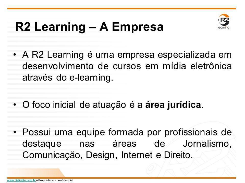 R2 Learning – A Empresa A R2 Learning é uma empresa especializada em desenvolvimento de cursos em mídia eletrônica através do e-learning.