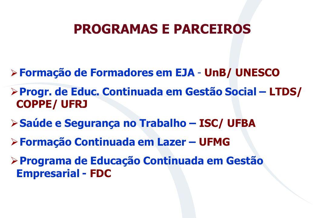 Progr. de Educ. Continuada em Gestão Social – LTDS/ COPPE/ UFRJ