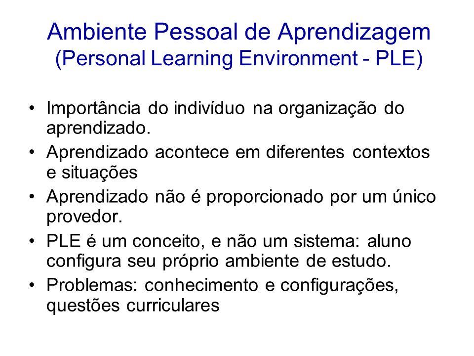 Ambiente Pessoal de Aprendizagem (Personal Learning Environment - PLE)