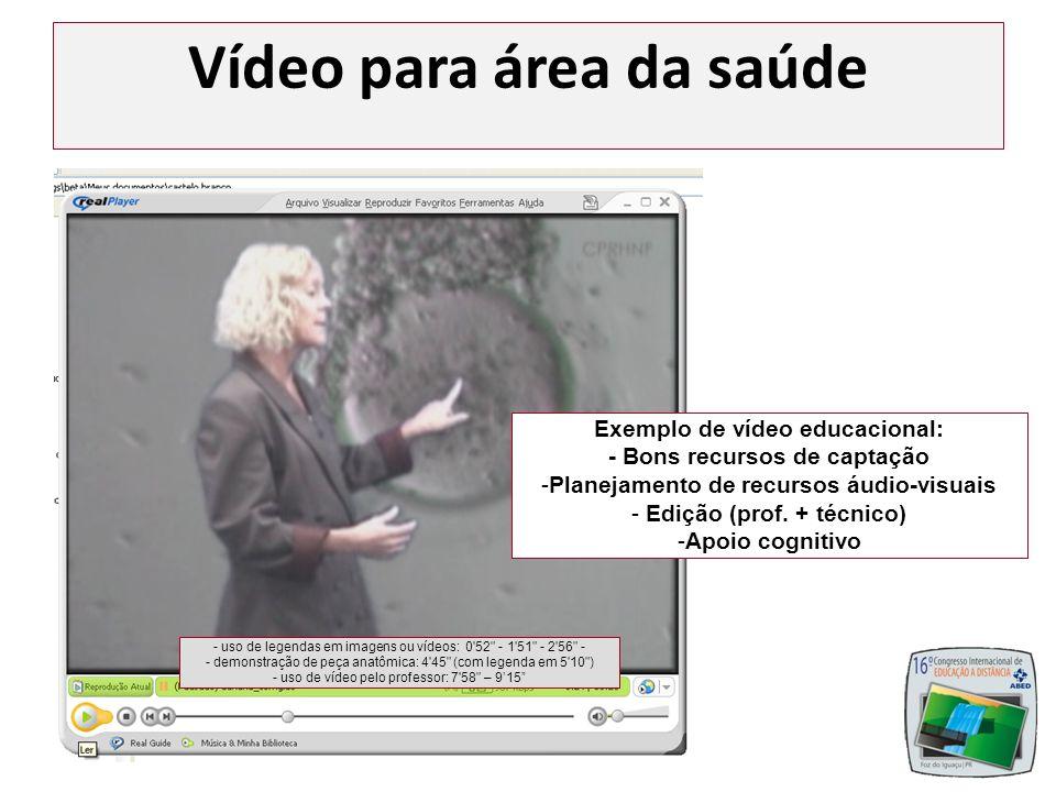 Vídeo para área da saúde