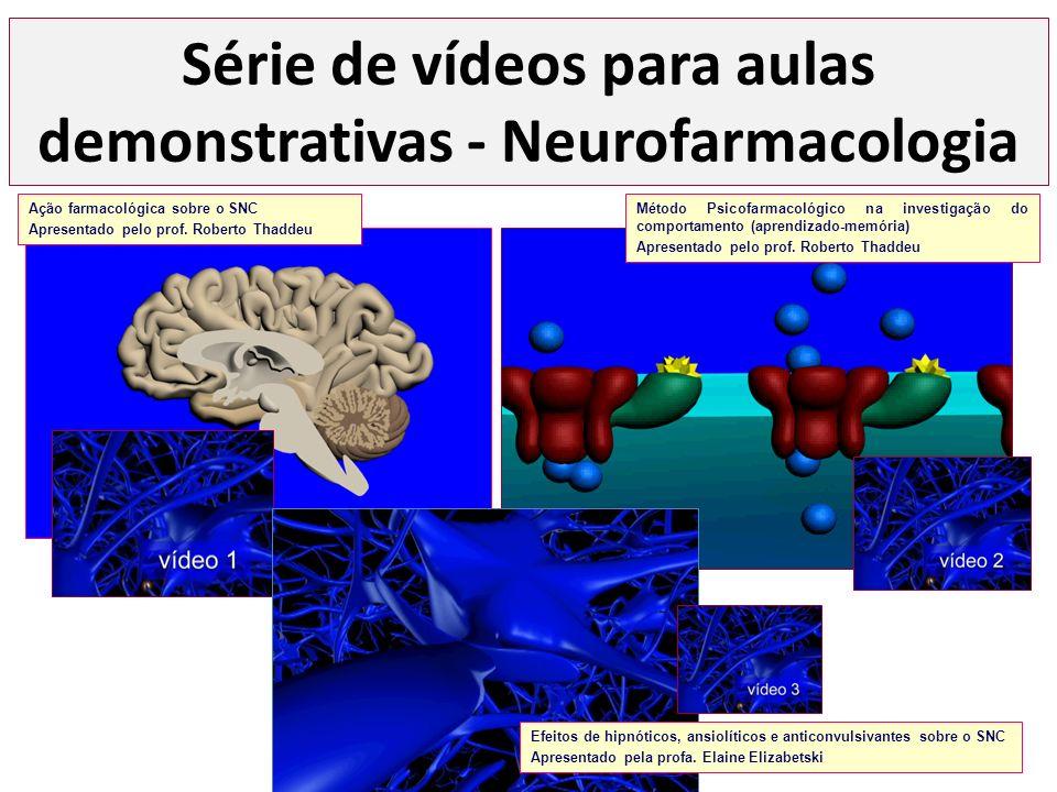 Série de vídeos para aulas demonstrativas - Neurofarmacologia