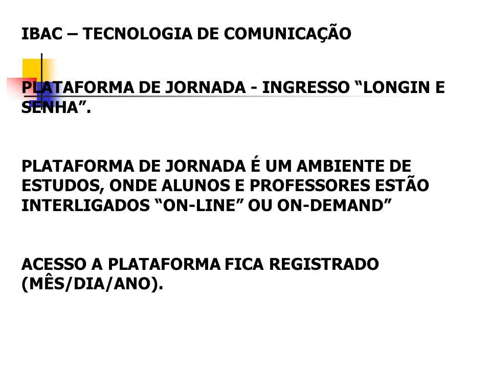 IBAC – TECNOLOGIA DE COMUNICAÇÃO