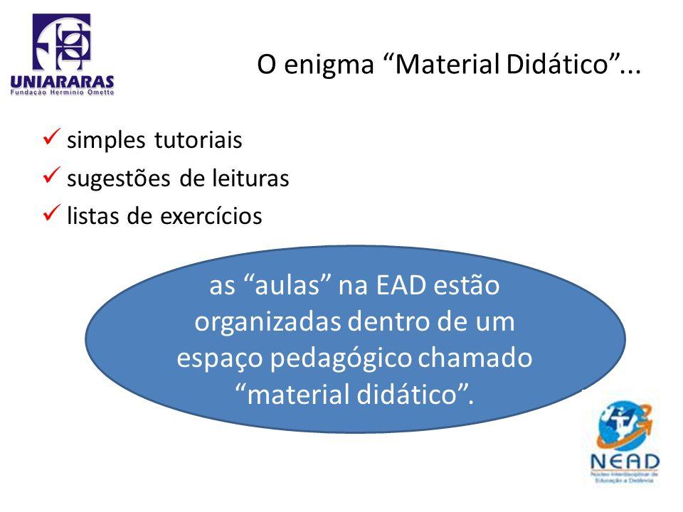 O enigma Material Didático ...