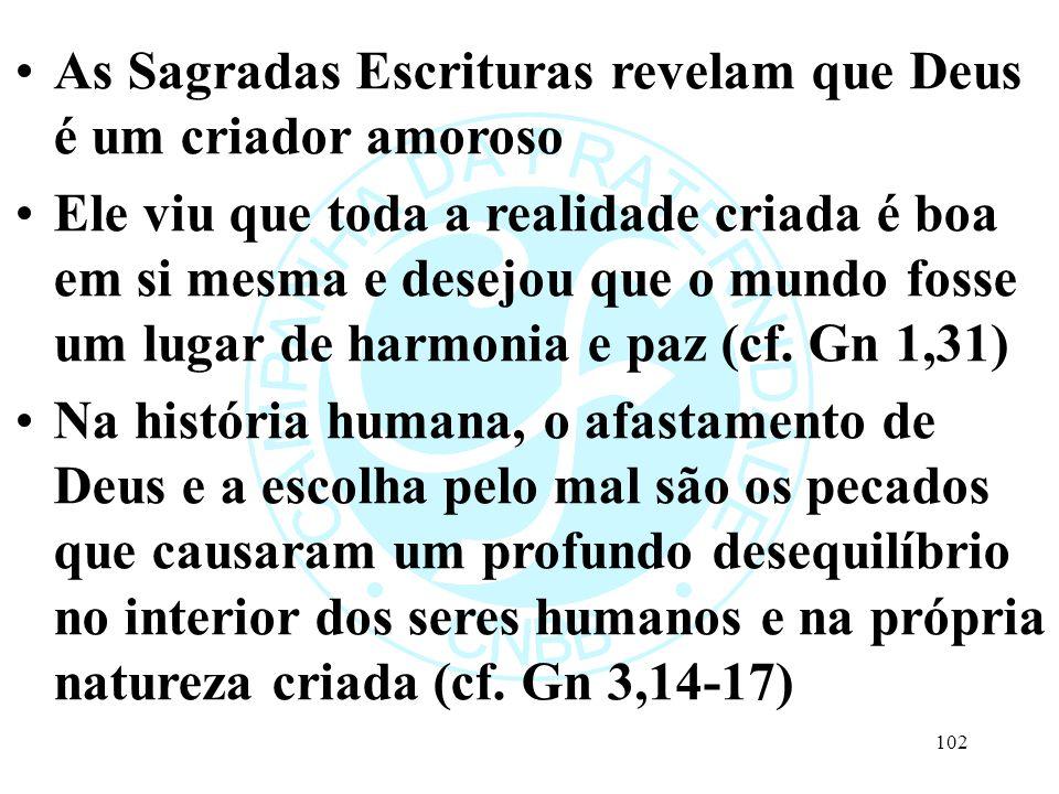 As Sagradas Escrituras revelam que Deus é um criador amoroso