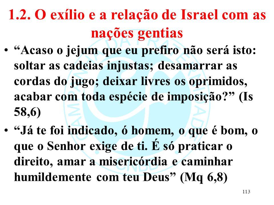 1.2. O exílio e a relação de Israel com as nações gentias