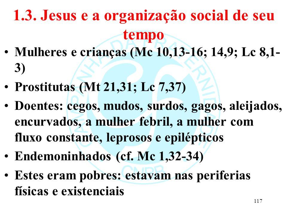 1.3. Jesus e a organização social de seu tempo