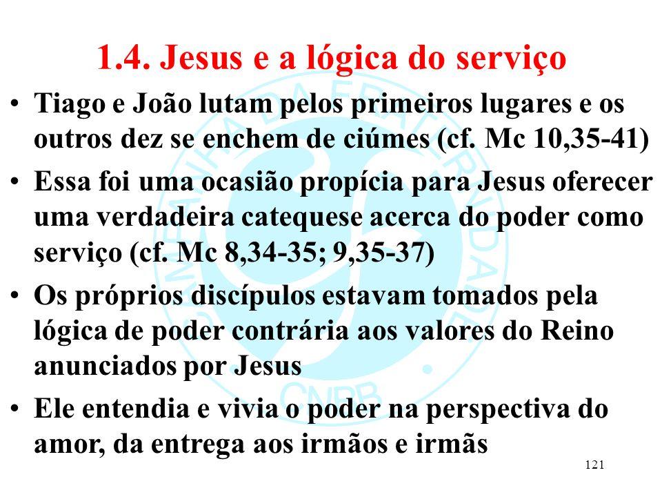 1.4. Jesus e a lógica do serviço