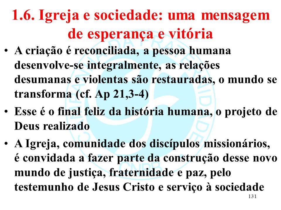 1.6. Igreja e sociedade: uma mensagem de esperança e vitória