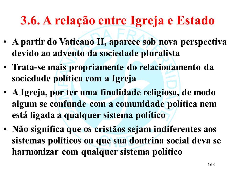 3.6. A relação entre Igreja e Estado