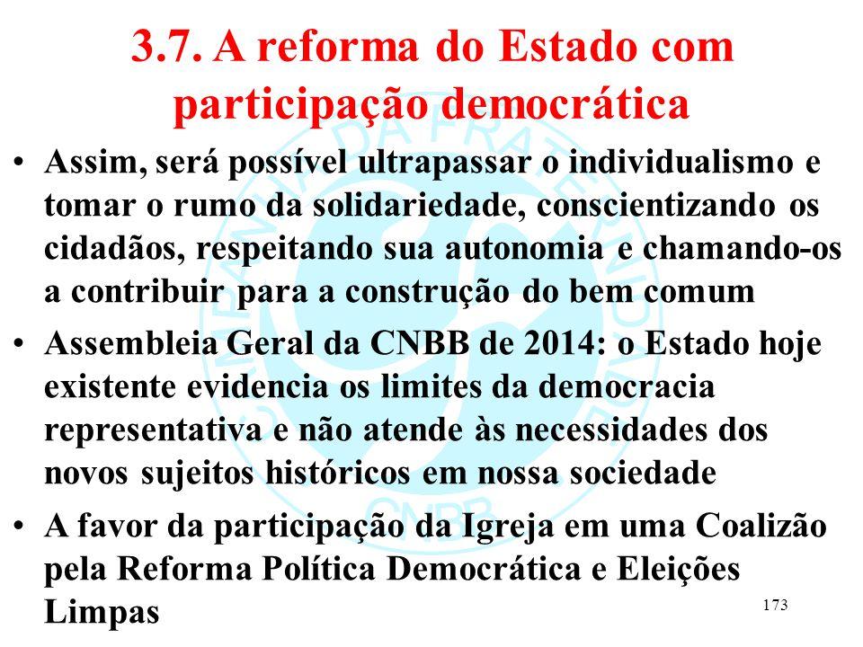 3.7. A reforma do Estado com participação democrática