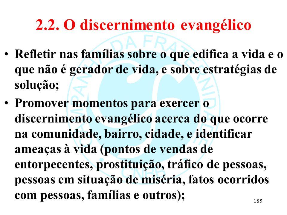 2.2. O discernimento evangélico