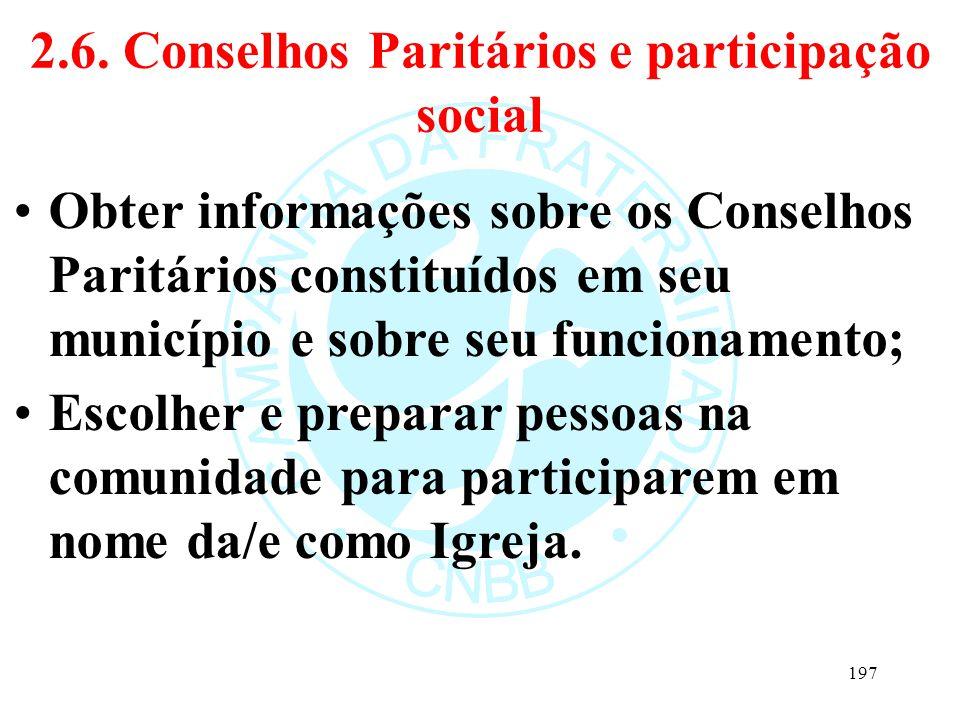 2.6. Conselhos Paritários e participação social