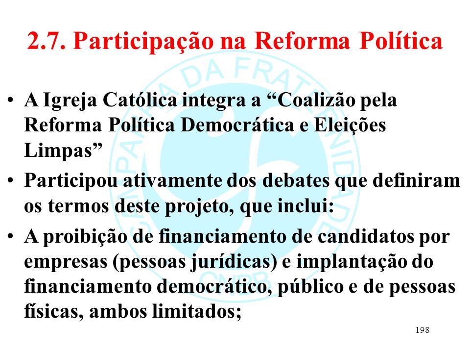 2.7. Participação na Reforma Política