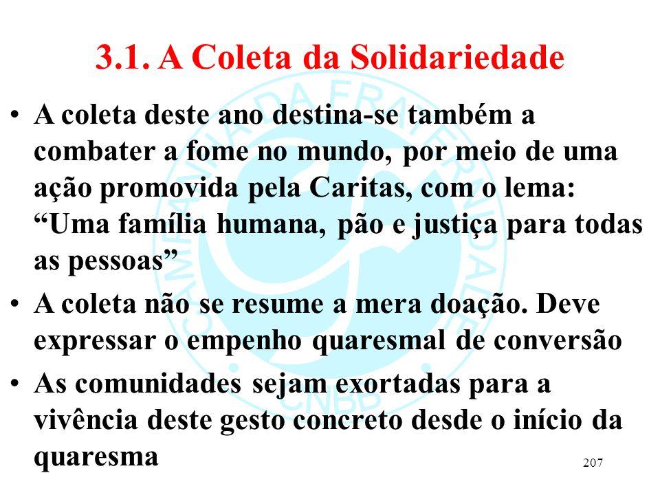 3.1. A Coleta da Solidariedade