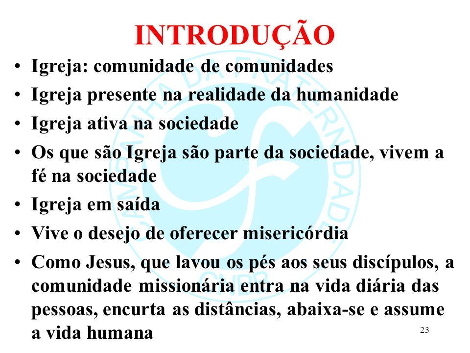 INTRODUÇÃO Igreja: comunidade de comunidades