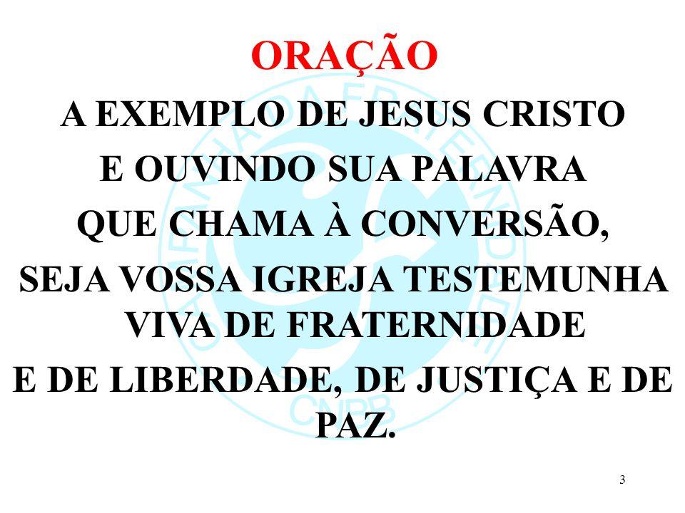 ORAÇÃO A EXEMPLO DE JESUS CRISTO E OUVINDO SUA PALAVRA