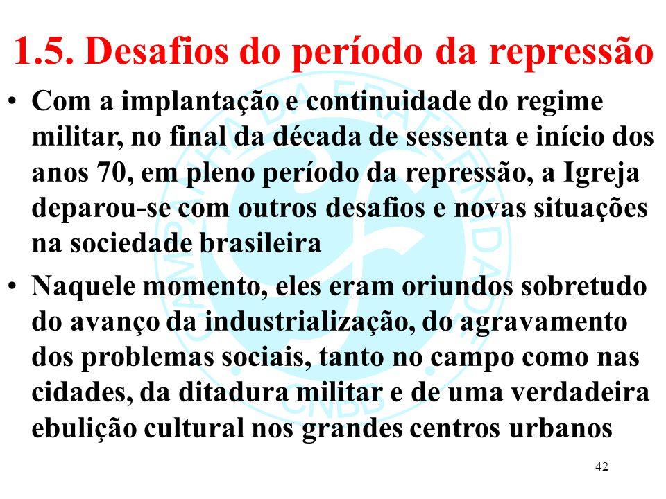 1.5. Desafios do período da repressão