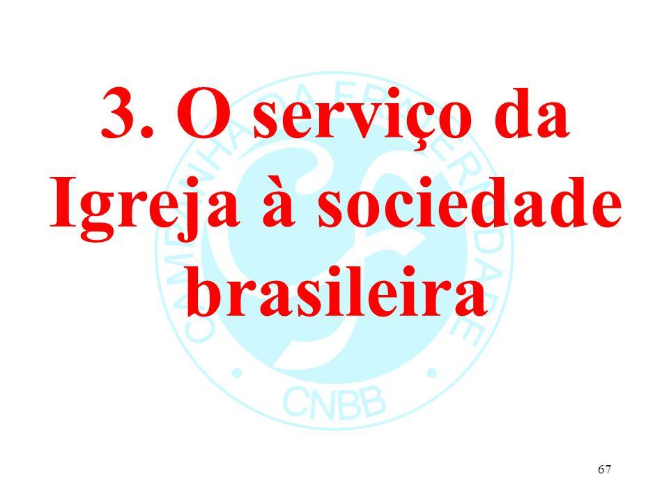 3. O serviço da Igreja à sociedade brasileira