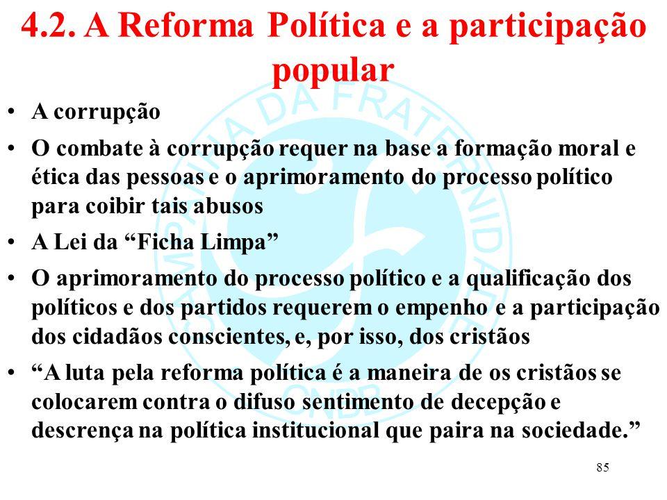 4.2. A Reforma Política e a participação popular