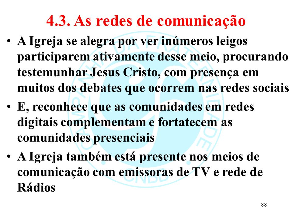 4.3. As redes de comunicação