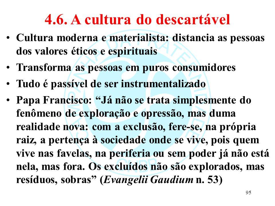 4.6. A cultura do descartável