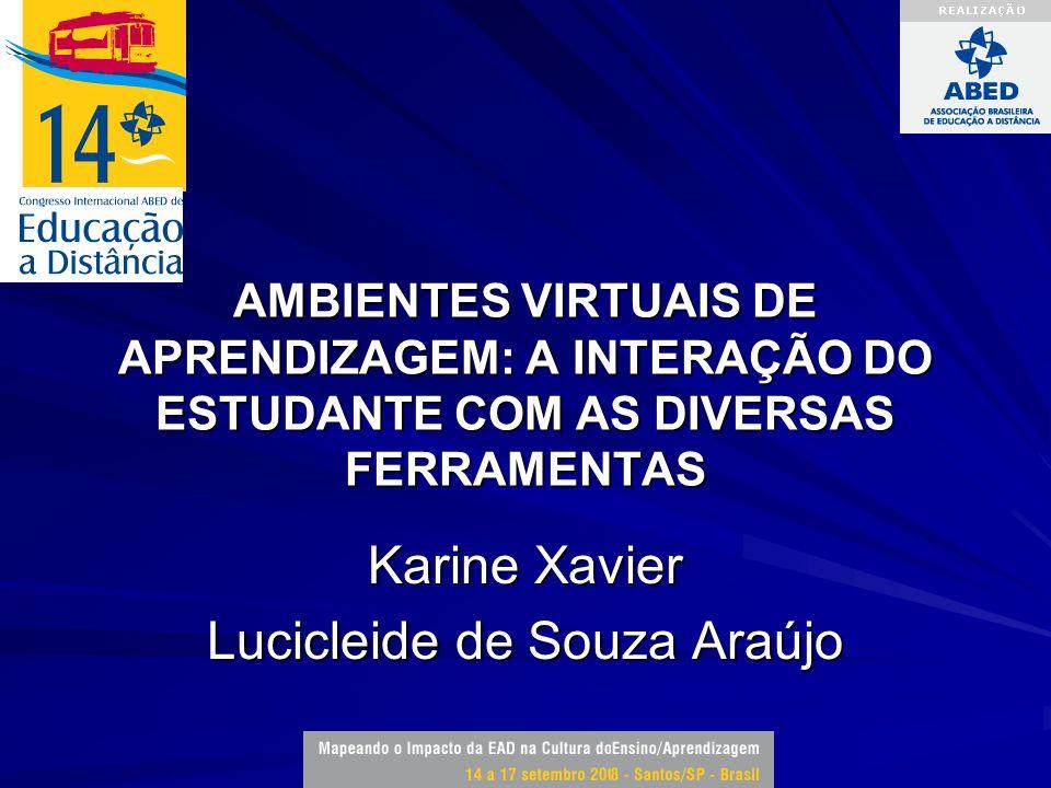 Karine Xavier Lucicleide de Souza Araújo