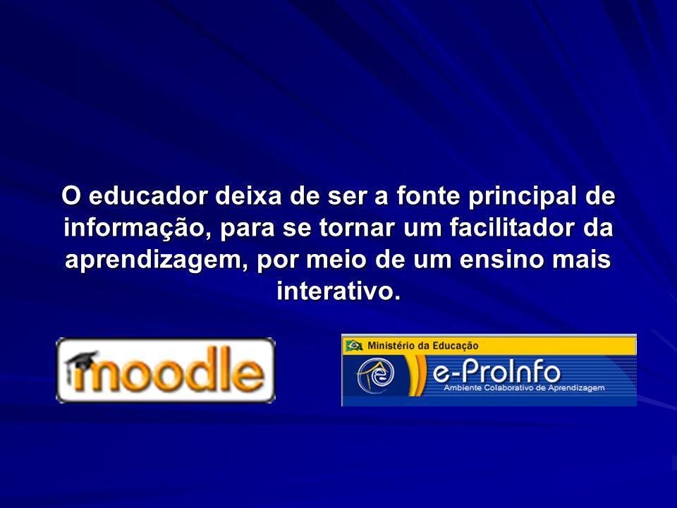 O educador deixa de ser a fonte principal de informação, para se tornar um facilitador da aprendizagem, por meio de um ensino mais interativo.