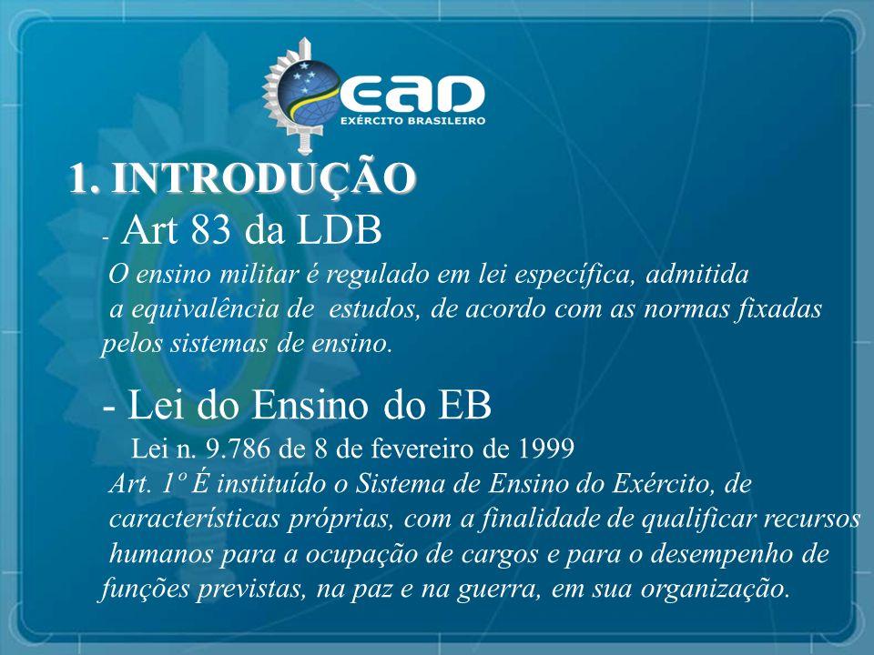 1. INTRODUÇÃO Lei do Ensino do EB