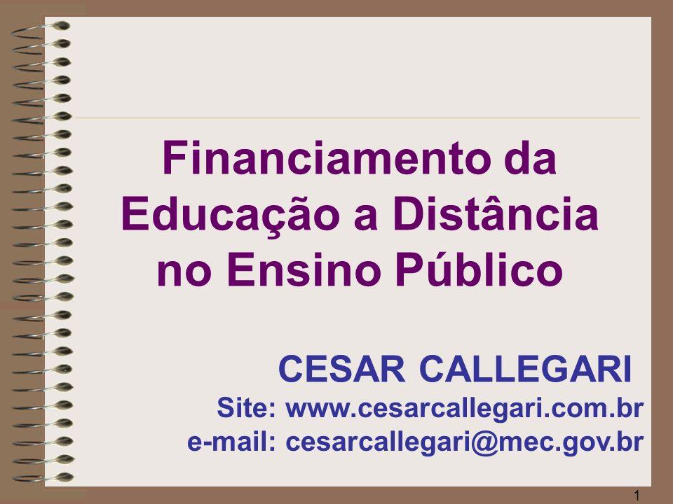 Financiamento da Educação a Distância no Ensino Público