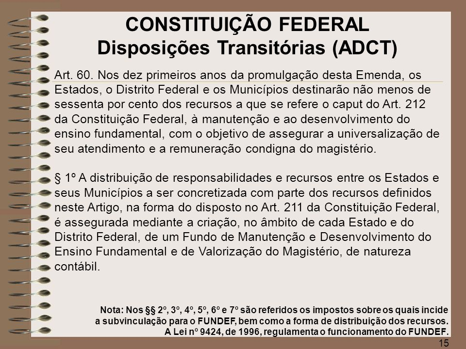 Disposições Transitórias (ADCT)