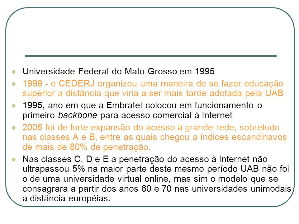 Universidade Federal do Mato Grosso em 1995