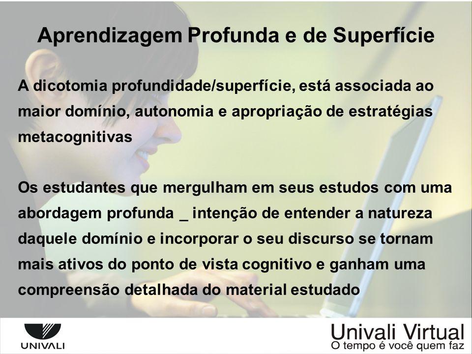 Aprendizagem Profunda e de Superfície