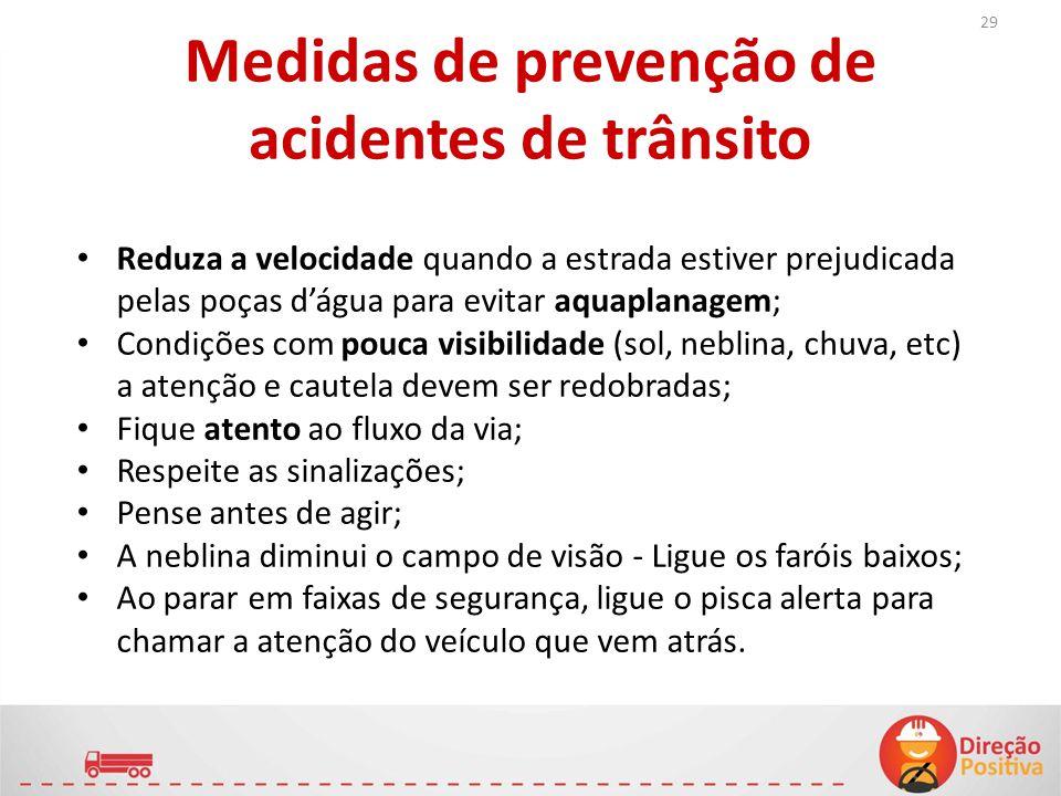 Medidas de prevenção de acidentes de trânsito