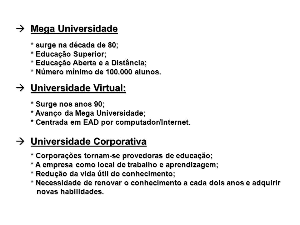 Universidade Virtual: