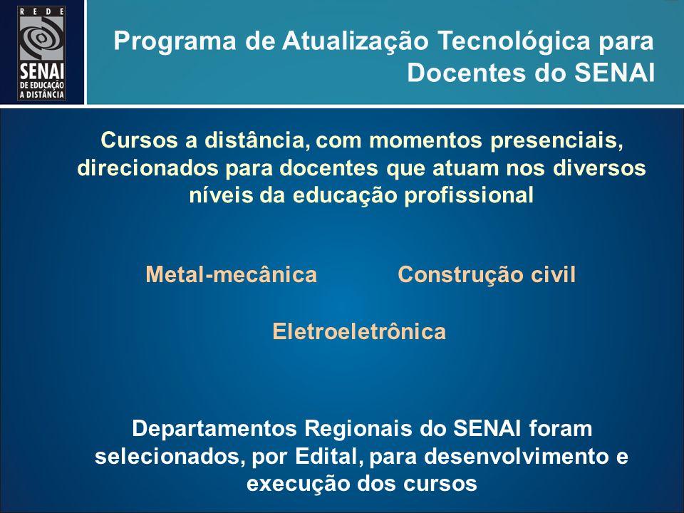 Programa de Atualização Tecnológica para Docentes do SENAI