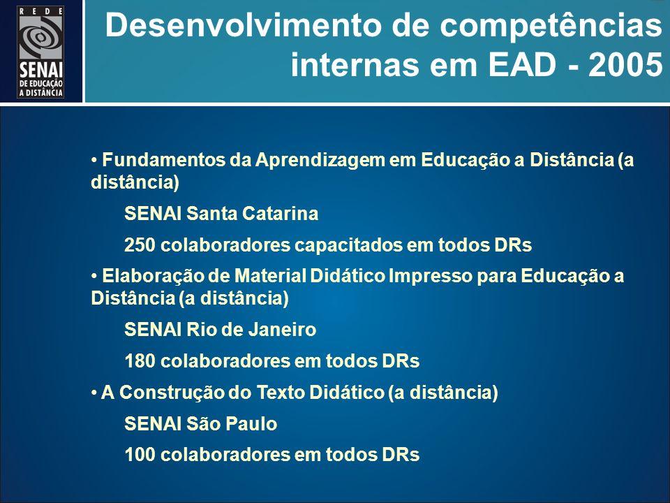 Desenvolvimento de competências internas em EAD - 2005