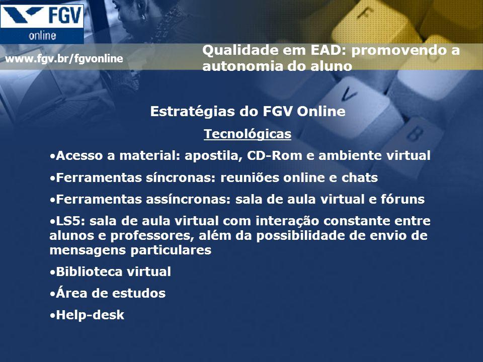 Estratégias do FGV Online