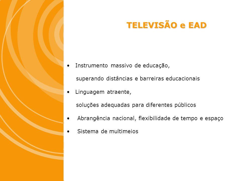TELEVISÃO e EAD Instrumento massivo de educação,