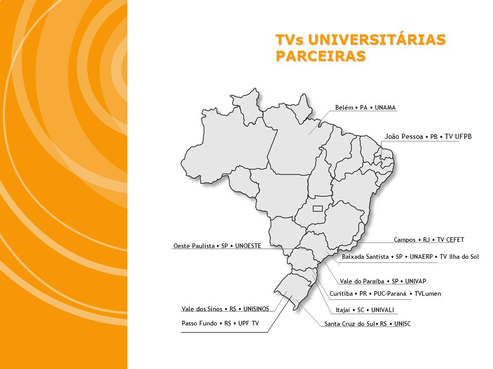 TVs UNIVERSITÁRIAS PARCEIRAS