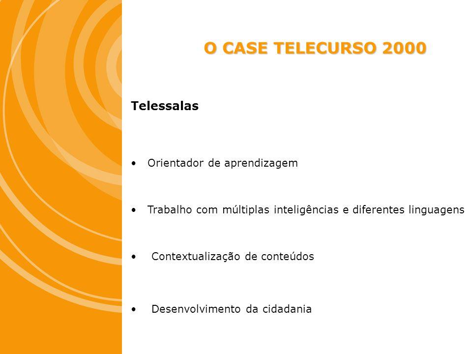 O CASE TELECURSO 2000 Telessalas Orientador de aprendizagem