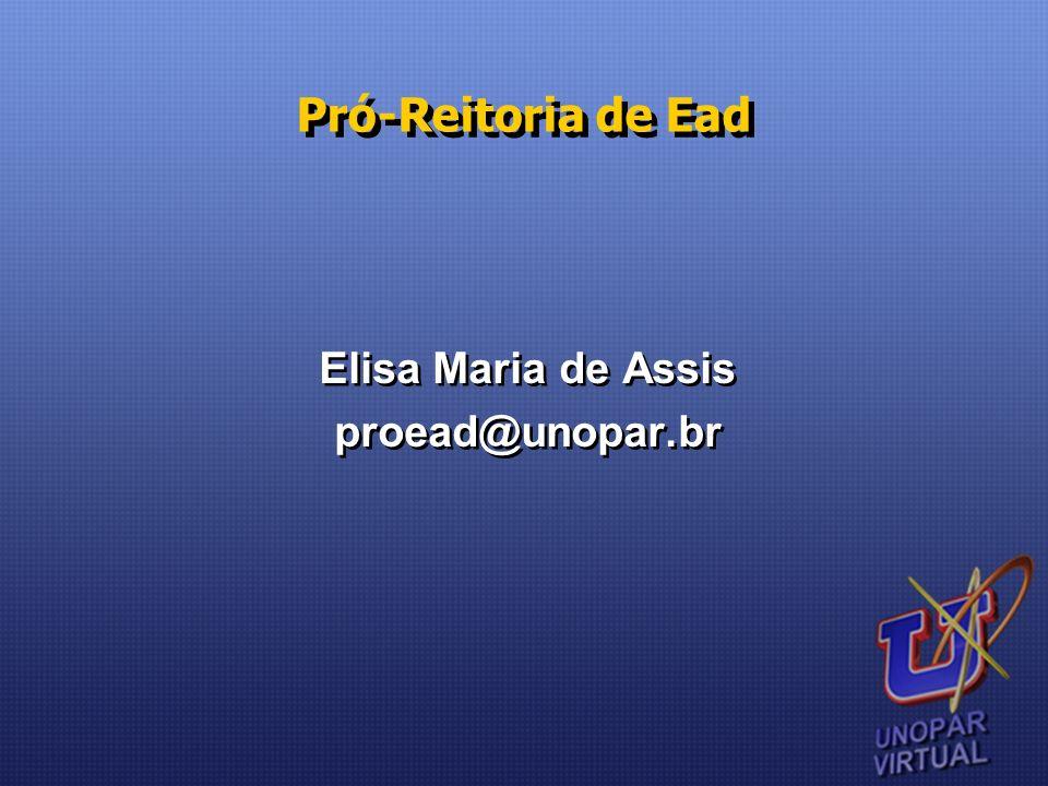 Elisa Maria de Assis proead@unopar.br