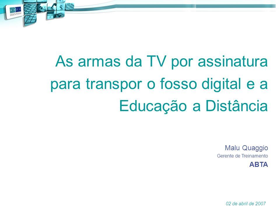 As armas da TV por assinatura para transpor o fosso digital e a