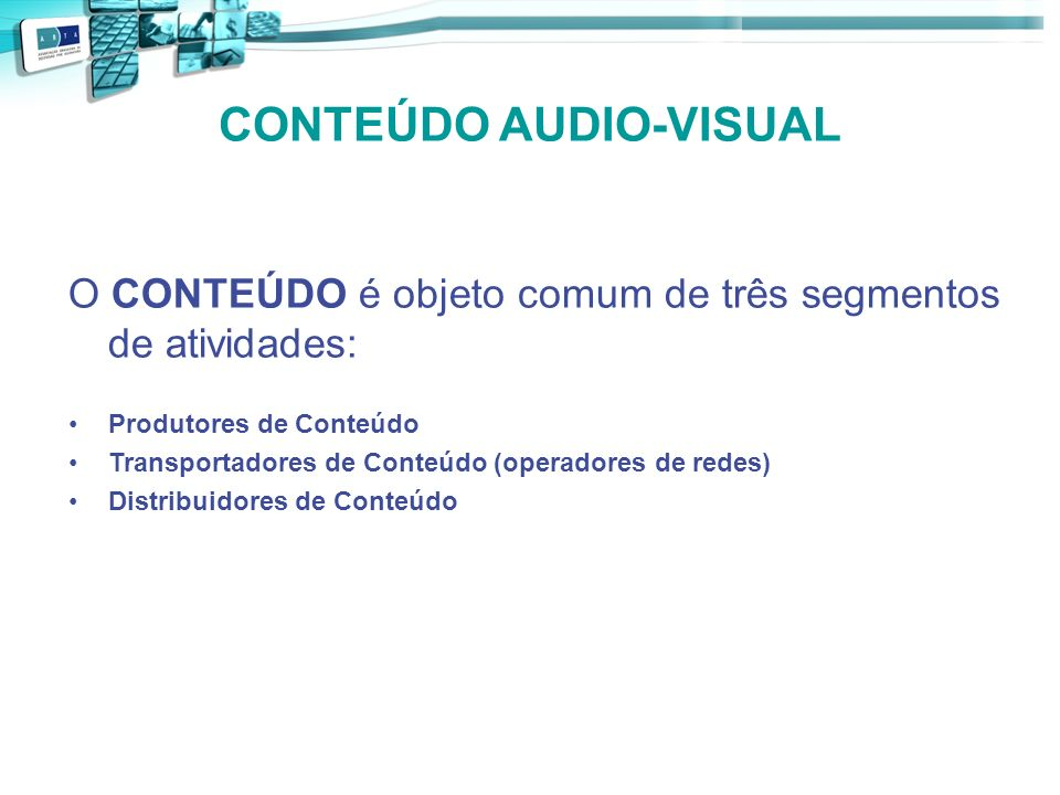 CONTEÚDO AUDIO-VISUAL